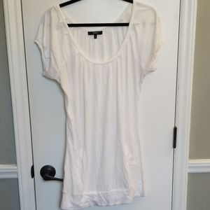 White Express Tunic Sweater with pockets